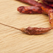 Stock Photo: Dried red chilies