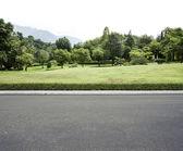 Road garden background — Stock Photo