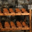 Detail of shoe storage in a factory - Stock Photo