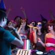 Fun and dance at party with dj and friends — Stock Photo #14068692
