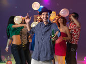Party time with friends — Stock Photo
