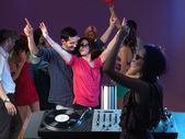 Careless enjoying themselves at party — Stock Photo