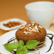 Cupcake almonds - Stockfoto