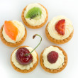 Delicious tart circle — Stock Photo
