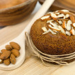 Nutritious almond muffin — Stock Photo