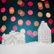 Christmas night scene - Stock Photo