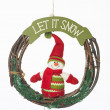 Let it snow christmas wreath - Stock Photo