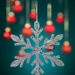 Silver snowflake with glitter — Stock Photo