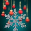 Silver snowflake with glitter — Stock Photo #16939549