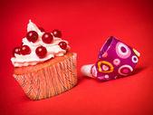 Party cupcake — Stock Photo