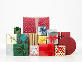 Pile of colorful presents — Stock Photo