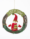 Let it snow christmas wreath — Stock Photo