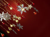 Glittery christmas decorations — Stock Photo