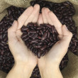 Beans heart — Stock Photo