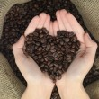 Coffe heart shape — Stock Photo