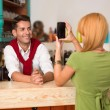 Stock Photo: Taking photos with smartphone