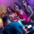 Young dancing at party with dj — Stock Photo