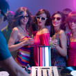 Girls night out at a party — Stock Photo