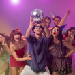 Young celebrating at disco party — Stock Photo #19986691