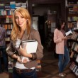 Chraming young girl in bookshop — Stock Photo