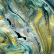 Glossy pearlescent pigments mixed with oil, detail — Foto de Stock