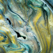 Glossy pearlescent pigments mixed with oil, detail — Foto Stock