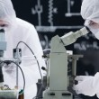 Stock Photo: Laboratory microscope analysis