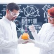 Stock Photo: Laboratory grapefruit experiment