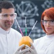 Stock Photo: Experimental studies on grapefruit