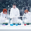 Stock Photo: Supervised laboratory experiment