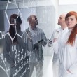 Stock Photo: Chemistry lab teacher analysis