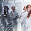 Chemistry lab teacher analysis — Stock Photo