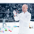 Scientist  molecular analysis — Stock Photo