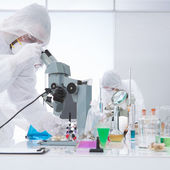 Laboratory molecular analysis — Stock Photo