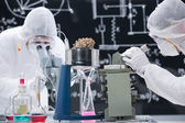 Laboratory chemical research — Stock Photo
