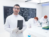 Researchers in a chemistry lab — Stock Photo