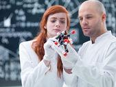 Análisis molecular en el laboratorio — Foto de Stock