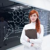 Student in laboratory — Stock Photo