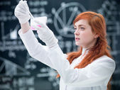 Student chemical experiment — Stock Photo