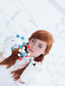 Student dmt moleculaire analyse — Stockfoto