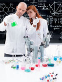 Working in chemistry lab — Stock Photo