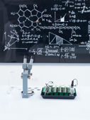 Chemistry laboratory set up — Stock Photo