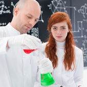 Chemistry lab experiment — Stock Photo