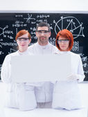 Scientists in chemistry lab — Stock Photo