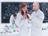Molecular laboratory analysis — Stock Photo
