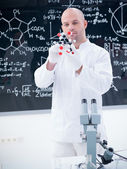 Scientist in chemistry lab — Stock Photo