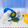 Stock Photo: Attending to biohazard chemical spill