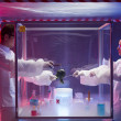Stock Photo: Experimenting on vegetables in sterile chamber