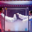 Stock Photo: Chemical reactions in sterile chamber