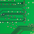 Green printed electronic microcircuit — Stock Photo